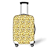 Travel Luggage Cover Suitcase Protector,Geometric,Vibrant Colored Triangle Shapes...