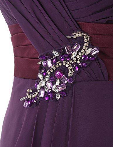 Dresstells, Robe de soirée robe de cérémonie robe de demoiselle d'honneur bustier en cœur longueur ras du sol Jaune