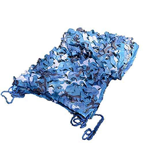 Carl Artbay Markisenplane Marine Blue Camouflage Net für Swimming Pool im Freien dekorative Schatten (anpassbare Größe) (Größe: 6x10M) Camouflage Tarnnetz (Size : 3x9m)