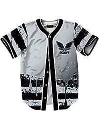 Pizoff Camicia Baseball con Stampa 3D Hip Hop Divertente Uomo a Maniche  Corte 4b189e05deb6