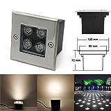 LED Boden Einbau-Strahler Gartenleuchten 4W Warmweiß/Platz 230V Einbaustrahler Außenleuchte IP67