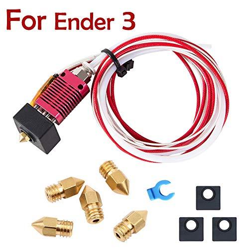 3D Drucker Extruder Montiert MK8 Hot End Sprinkler Kit für Creality Ender 3 / Ender 3 Pro 3D-Drucker mit Silikonstiefeln und 0,4 mm Düse