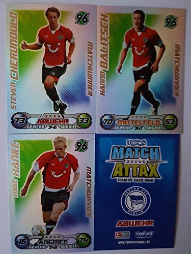 Match Attax Topps 2009 2010 - Trading Cards alle 3 Matchwinner: Hannover: Cherundolo, Balitsch, Hanke (Topps-fußball-2010)