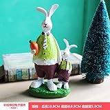 SQBJ Knoblauch fett Kaninchen Liebhaber Raumdekoration basteln kreative Harz Heimtextilien schönen kleinen Ornamenten handgefertigte Verzierungen, Kaninchen Vati