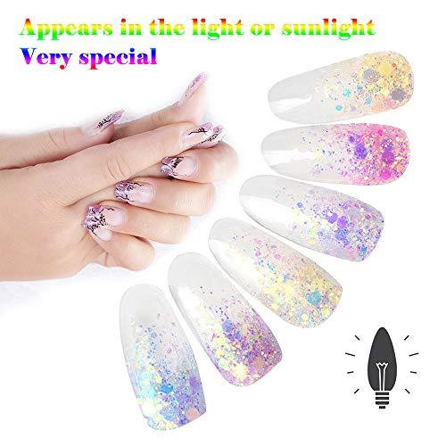 TAOtTAO Staub-Nagel-Kunst-Glitter-Chrom-Pigment des optischen Chamäleon-Spiegel-Pulver-DIY (A-F Verschiedenes) -
