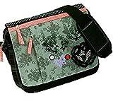 Alessandro ® 3537 GOTHIC Umhängetasche mit schwarzen Schleifen und Spitzenbesatz Handyfach und Organizer