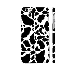 Colorpur iPhone 6 Plus / 6s Plus Cover - Black And White Cow Skin Pattern Printed Back Case