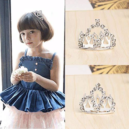 dchen Geburtstag Party Haarschmuck Schöne Kristall Kleine Tiara Kamm Schmuck Prinzessin Mini Crown Haarkämme ()
