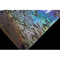 6 Piezas 10 x 19 cm holográfica Adhesivo lámina Flash Artificial Piel de pez DIY Jig Pegatina de cebos Duros cebos Pegatinas Moscas Atado Materiales