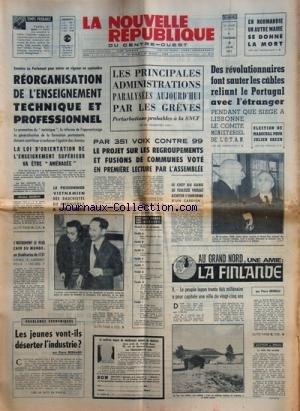 NOUVELLE REPUBLIQUE (LA) [No 8122] du 04/06/1971 -...