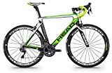 "Bicicleta de carretera de carbono HEAD I - SPEED VI 28"" negro mate / verde"