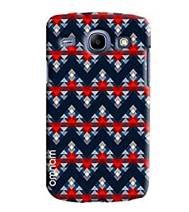 Omnam Triangle Printed Pattern Blue Color Designer Back Cover Case For Samsung Galaxy Core i8262