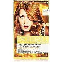 L'Oréal Paris Excellence Intense Coloración, Tono: 7,43 Rubio Cobrizo Dorado