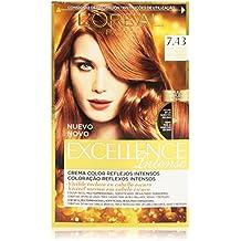 Garnier Excellence Intense Coloración, Tono: 7,43 Rubio Cobrizo Dorado