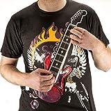 GRANDE elettrica Rock Guitar T-shirt giocabile chitarra! Gadget elettronico della chitarra T-shirt