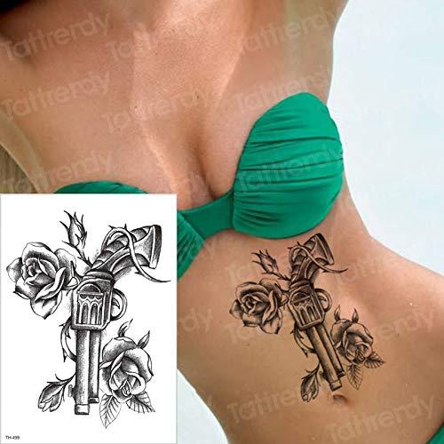 Tzxdbh tatuaggio impermeabile tatuaggio di halloween per tatuaggio trasferimento tatuaggi tatuaggio corpo femminile tatoo rose rose nero sul braccio posteriore tatuaggi