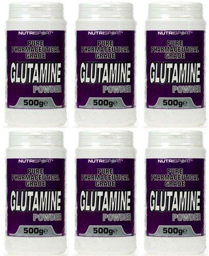 6-PACK-Nutrisport-Glutamine-Powder-NSP-GP500-500g-6-PACK-BUNDLE