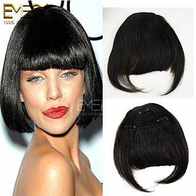 OOFAY JF® bei capelli remy batte la clip-in estensione frangia capelli traceless 30g capelli / 1pcs 3 clip facce piane frangia lunga 2 colori