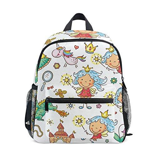 ISAOA Niño 3D Castillo unicornio Dragon y accesorios niños mochilas Kinder preescolar niño niños/niñas mochila Linda carteras