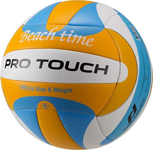Pro Touch Time Beach Volleyball Ball, Blau/Weiß/Orange, 5 (Pro Beach-volleyball)