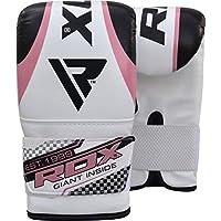 RDX Femme Gants de Boxe Sac Frappe Muay Thai Kickboxing MMA Mitaines d'entrainement Rose Gant Poire Vitesse Double Attache Bag Punching Gants de balle