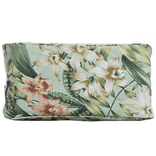 Borsa in tela cerata, da viaggio/vacanza, fantasie varie stampate (fiori, civette, a righe) Wild Flowers
