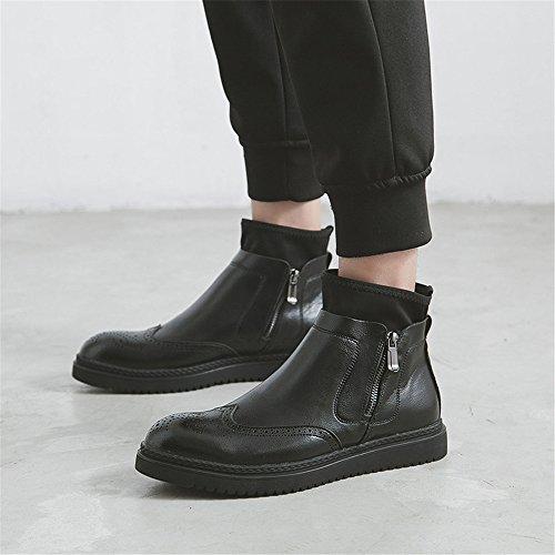 bullock ha inciso poco stivali spessi fondo inglese vento chelsea boots bullock ha inciso poco stivali black