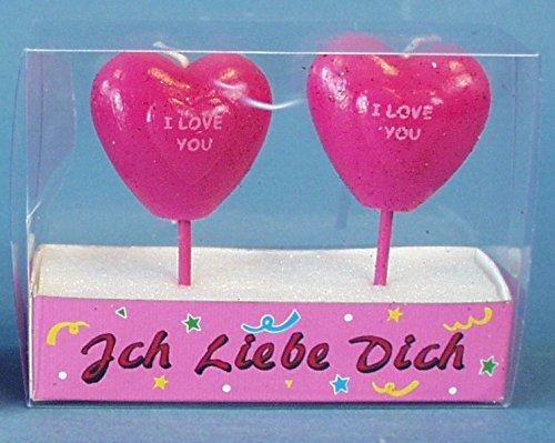 I love you Kerzen am Stiel ❤ Herz Kerze Ich liebe Dich ❤ Geschenk zum Valentinstag, Geschenkidee Paar, Partner, Frau, Mann, Freundin, Freund, Verliebte, Verlobung,