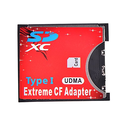 LEAGY SD Adapter Wireless WiFi SD MMC SDHC SDXC Slot auf CF Typ I Compact Flash Memory Adapter High Speed für SLR Kamera