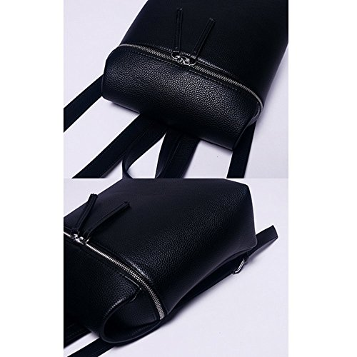 Eysee, Borsa a zainetto donna nero White 23cm*31cm*11cm nero