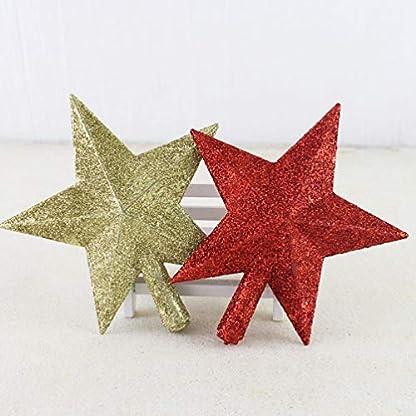 Toyvian-3-stck-Weihnachtsbaum-Stern-christbaumspitze-weihnachtsdeko-Weihnachten-partyhaus-Baum-Dekoration-golden-Silber-rot