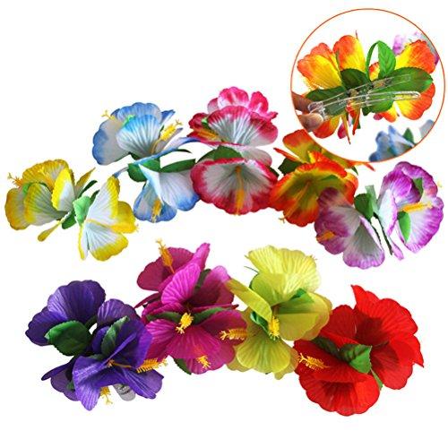 lume Haarspangen Hawaiian Haarspangen Haar Blume Haarschmuck für Mädchen Frauen Braut Hochzeit Strand Urlaub Outfit ()