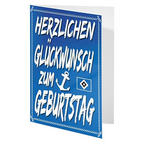 Hamburger SV HSV Karte/Glückwunschkarte / Geburtstagskarte ** Anker ** 29628