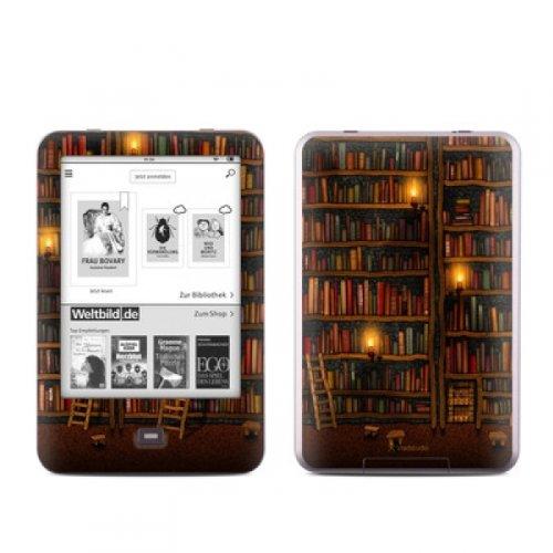 Tolino Shine Skin Ebook Reader Design Schutzfolie Skins Sticker Vinyl Aufkleber - Library