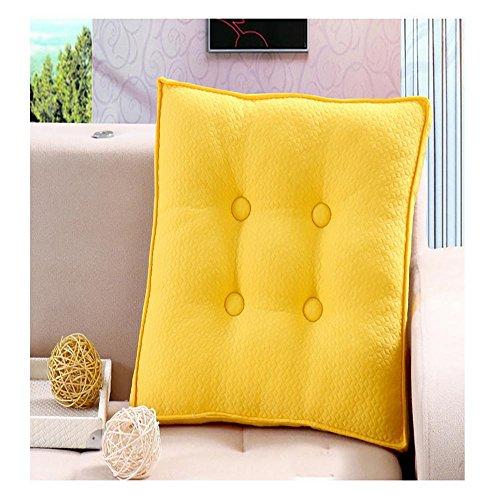 HDWN Cuscini ricamati trapuntato ufficio tessuti ispessiti traspirante Seat cuscini cuscini di seduta studente , yellow ,