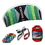 Cross Kites 1.5m Two line Power Stunt Kite - Various Colours Available (Rainbow)