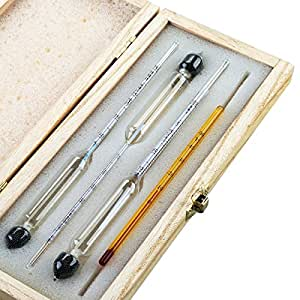 tefeler alkoholmeter tester 3 pcs hydrometer meter alkoholgehalt 0 100 vol alkohol vinometer. Black Bedroom Furniture Sets. Home Design Ideas
