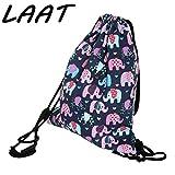 'Laat drucken Staubsaugerbeutel mit Kordelzug Rucksack Umhängetasche Sporttasche für Kinder und Jugendliche (Tiere, cartoon) 13,6x15,7
