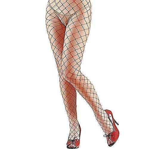Netzstrumpfhose Damen Rot