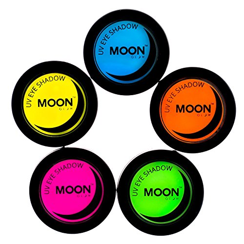 Moon Glow - Sombra ojos UV neón 3.5g Set 5 colores