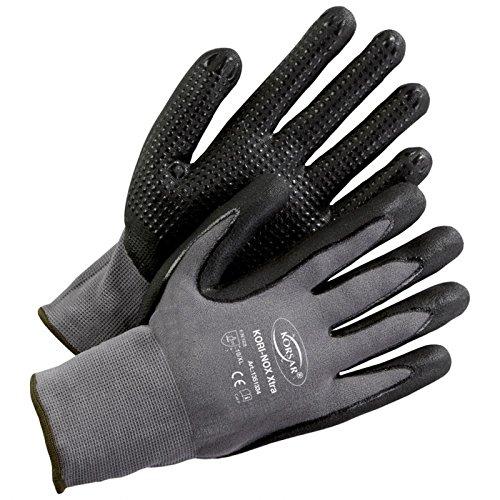 Handschuh Arbeitshandschuh Lagerhandschuh Kori-Nox Xtra grau-schwarz - Größe 10
