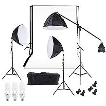 Fotografie Studio verlichting Softbox Photo Light Mousseline Achtergrond Stand Kit Accessory Equipment Fotografie & grafische vormgeving