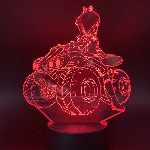 Led Nachtlicht Quad Fahren 3D Illusion Nachttisch Lampe 7 Farben Ändern Schlafen Beleuchtung Smart Touch Button Nette Geschenk Für Kinder Weihnachten Geburtstagsgeschenke