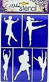 Schablone selbstklebend 14,8x21cm - Tänzer. Schablone, Stencil