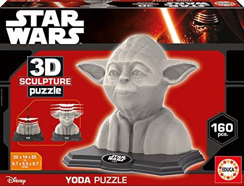 3D Sculpture – Puzzle con diseño Yoda (Educa Borras 16501)