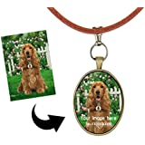 Personalised Dog Tags,Custom Dogs ID Dog Name Pictures Tags Jewelry Pet Identification Tags Dog Collar Tags Pets Puppy Dog Cat Pet Collar Necklace PU