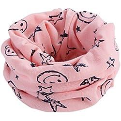 Bluestercool Otoño invierno bebé pañuelos Niños Niñas collar del bebé bufanda de algodón Cuello redondo Bufandas (Claro Rosado)
