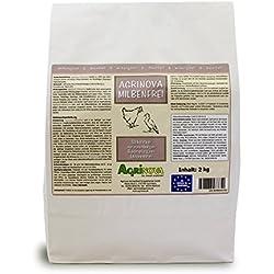 Agrinova Milbenfrei 2 kg Hochreine amorphe Kieselgur gegen alle Arten von Vogelmilben EU-Biozid-konform