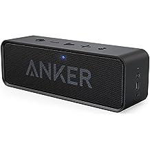 Anker SoundCore - Mobiler Bluetooth 4.0 Lautsprecher mit unglaublicher 24-Stunden-Akkulaufzeit und Dual-Treiber Wireless Speaker mit reinem Bass und eingebautem Mikrofon für iPhone, iPad, Samsung, Nexus, HTC und andere Android Geräte (Schwarz)