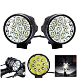 Best GENERIC Mountain Bike Lights - GENERIC2Pcs XANES ML02 4500LM 9T6 Super Bright Mountain Review